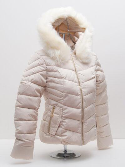 """Зимно късо яке - цвят """"шампанско"""" 2"""