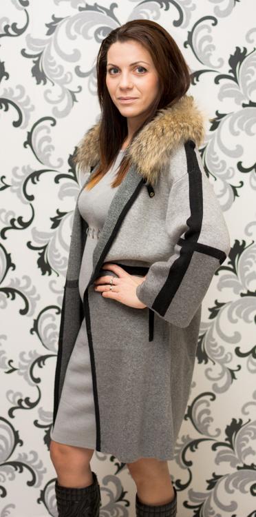 Луксозна дамска жилетка - сива 2