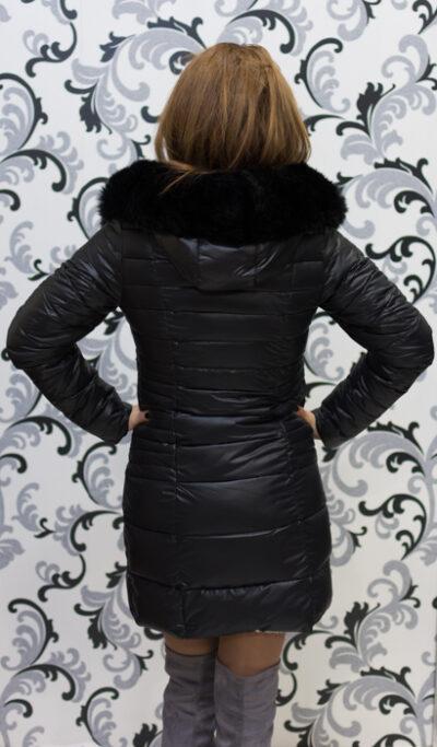 Черно зимно дълго яке 5