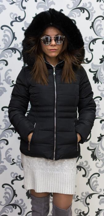 Черно късо яке 2