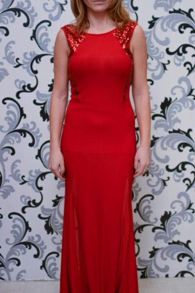 Червена рокля с пайети