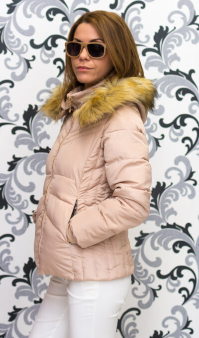 Зимно късо яке - бежово 3