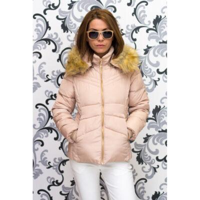 Зимно късо яке - бежово 1