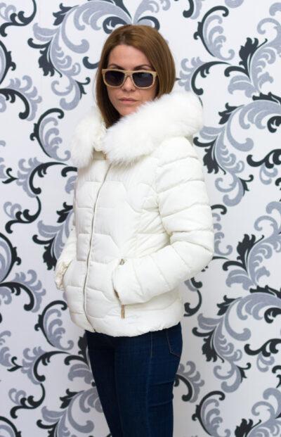 """Дамско късо яке - цвят """"шампанско"""" 3"""