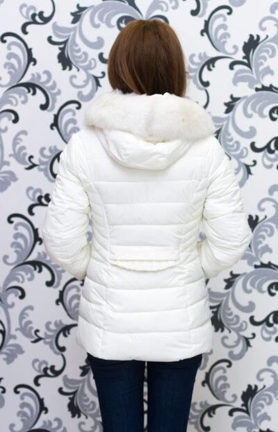 Дамско зимно яке със средна дължина - шампанско 3
