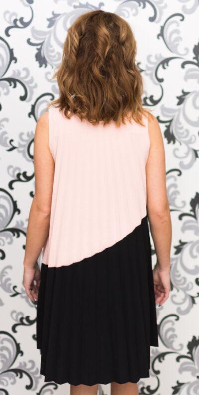 Дамска рокля в розово и черно