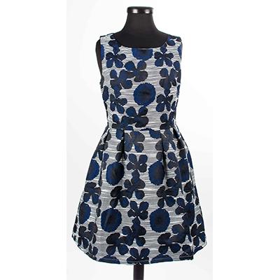 Разкроена дамска рокля на цветя 1