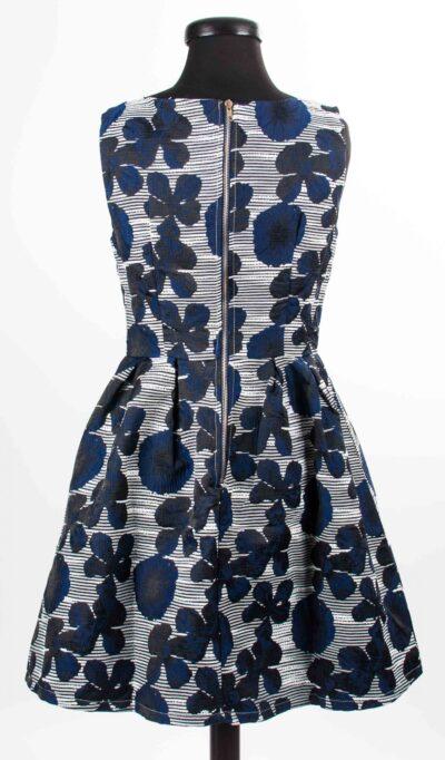 Разкроена дамска рокля на цветя 3