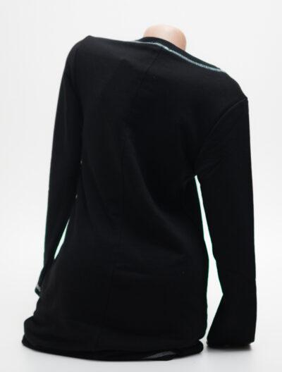 Черна рокля с лого - реплика 3