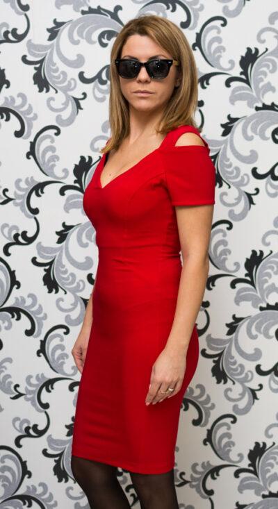 Официална червена рокля 2