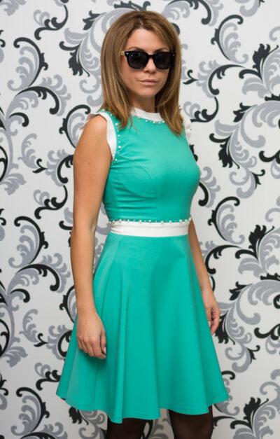 Дамска рокля - цвят мента