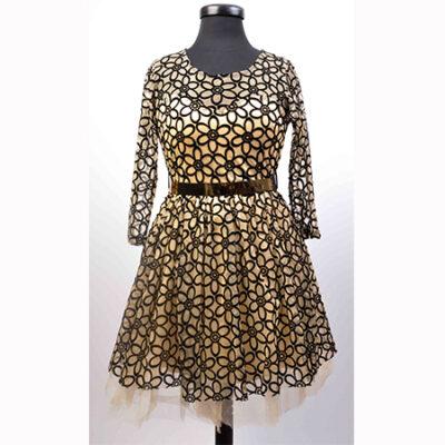 Официална дамска рокля тип 'Балерина'-бежова 1