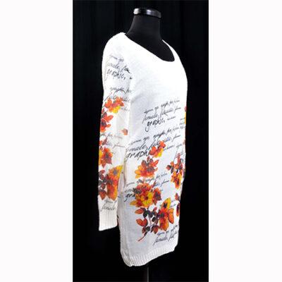 Плетена туника с цветя и надписи 1