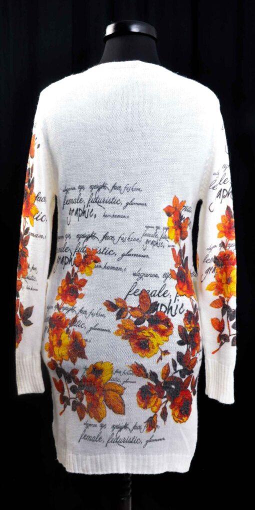 Плетена туника с  цветя и надписи 2