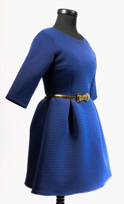 Синя дамска рокля 3