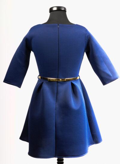 Синя дамска рокля 2