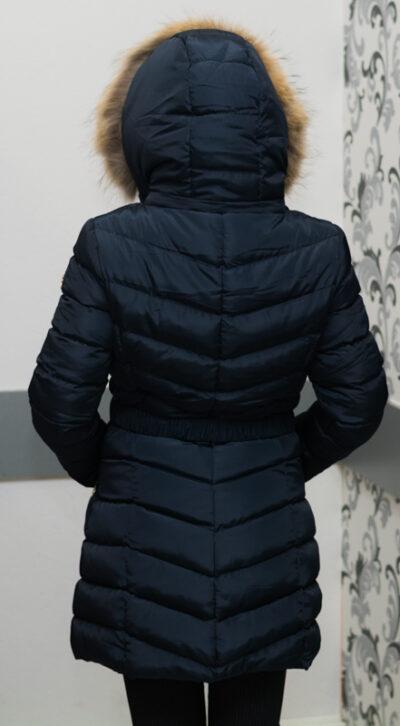 Зимно дълго яке - цвят тъмносин 3