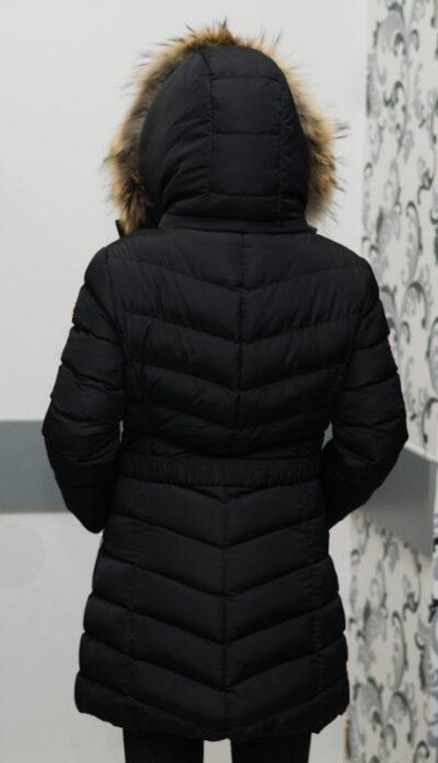 Зимно дълго яке - цвят черен 3