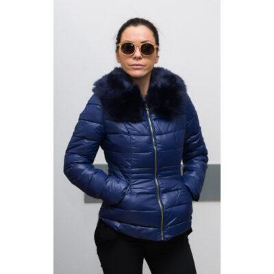 Зимно дамско яке - цвят син 1