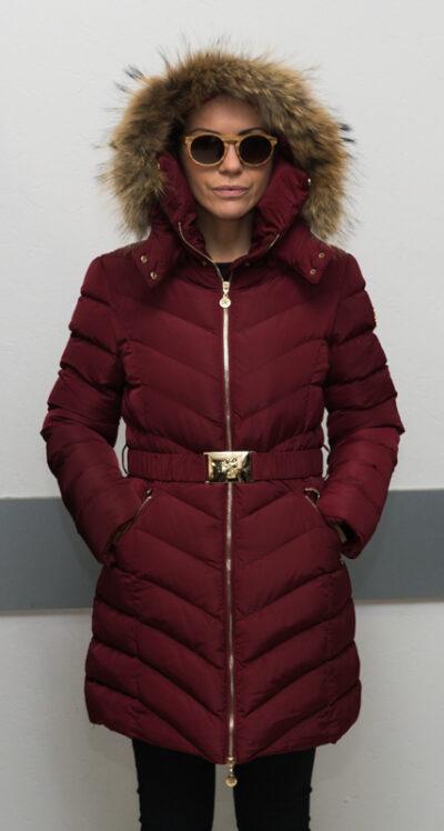 """Зимно дълго яке - цвят """"бордо"""" 4"""