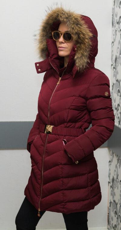 """Зимно дълго яке - цвят """"бордо"""" 2"""