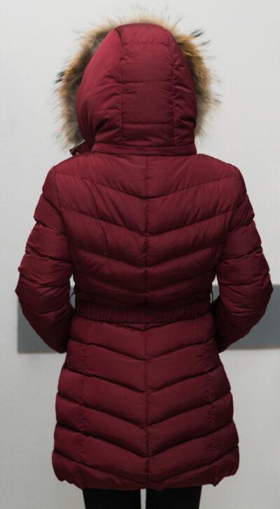 """Зимно дълго яке - цвят """"бордо"""" 3"""
