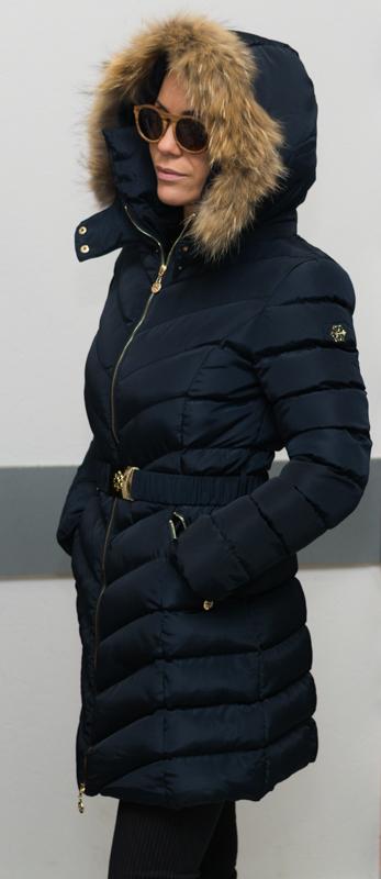 Зимно дълго яке - цвят тъмносин 2