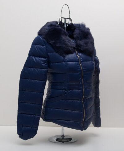 Зимно дамско яке - цвят син 3