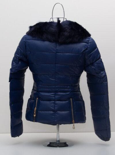 Зимно дамско яке - цвят син 2