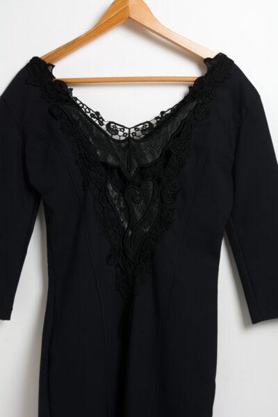 Официална дамска рокля - тъмносиня 3