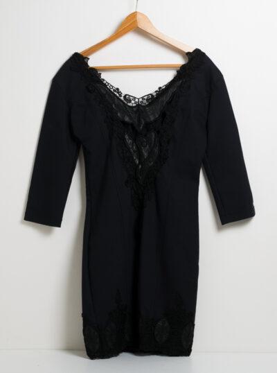 Официална дамска рокля - тъмносиня 2