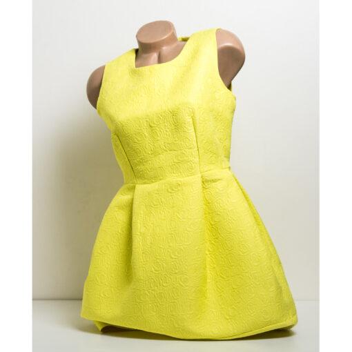 Жълта рокля без ръкав - къса 1