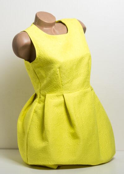 Жълта рокля без ръкав - къса 2