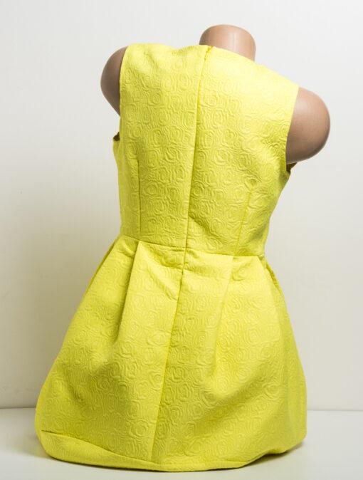 Жълта рокля без ръкав - къса 3