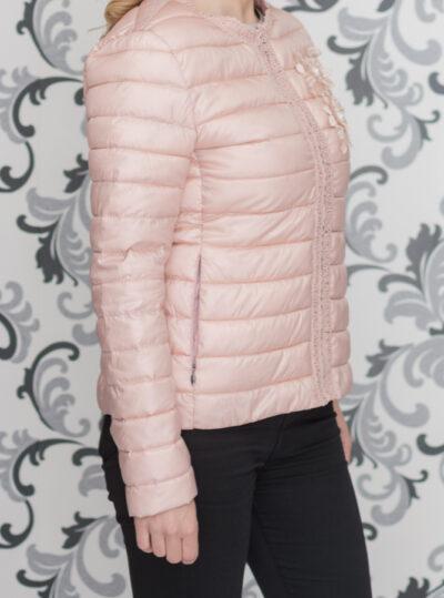 Розово тънко яке с декорация