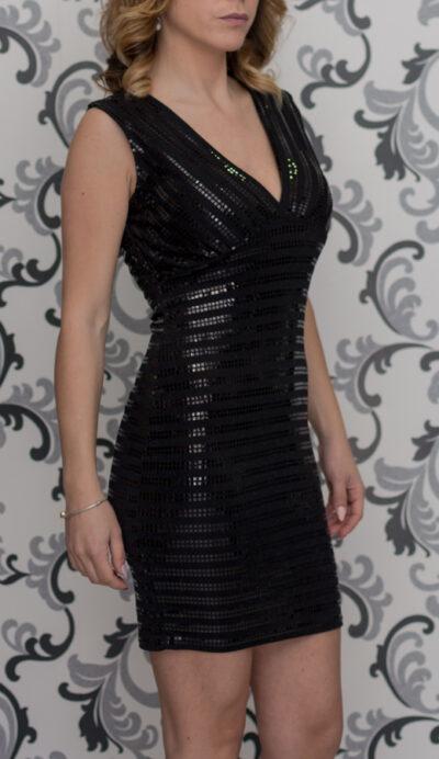 Официална черна рокля
