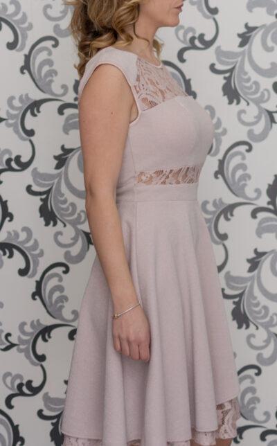 Розовз рокля - рзскроена
