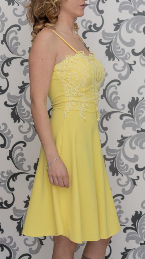 Дамска жълта рокля