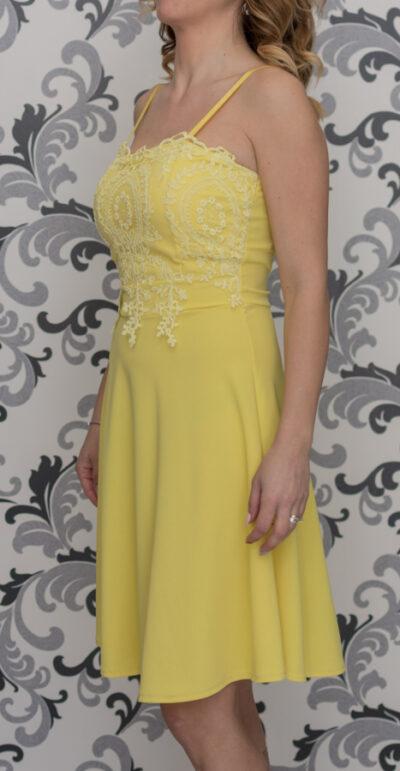Жълта дамска рокля 2020
