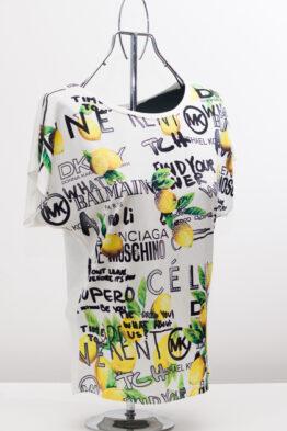"""Блуза с лимони - цвят """"шампанско"""" 4"""