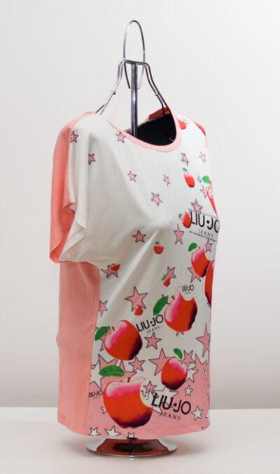 Блуза с ябълки - розова 2