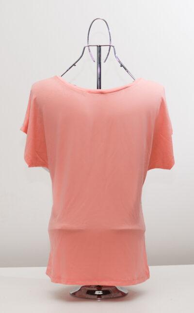 Блуза с ябълки - розова 3