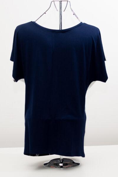 Блуза с ябълки - тъмносиня 2