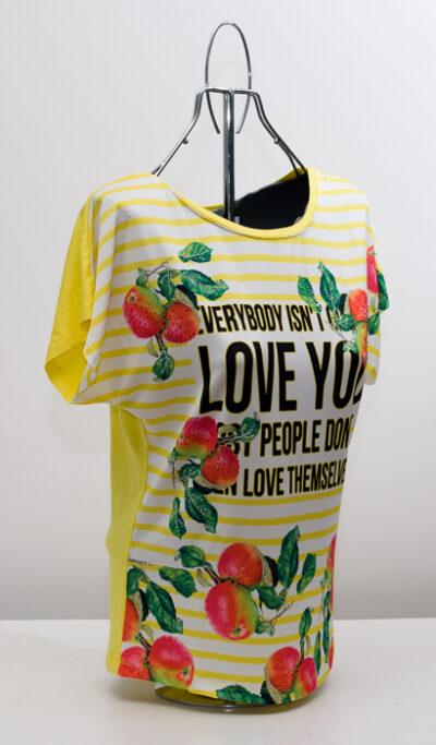 Блуза с плодове - жълта 2