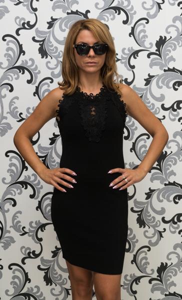 Дамска плетена рокля без ръкав - черна 1