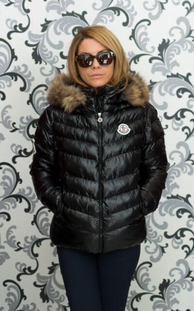 Черно дамско яке - Монклер - реплика 4