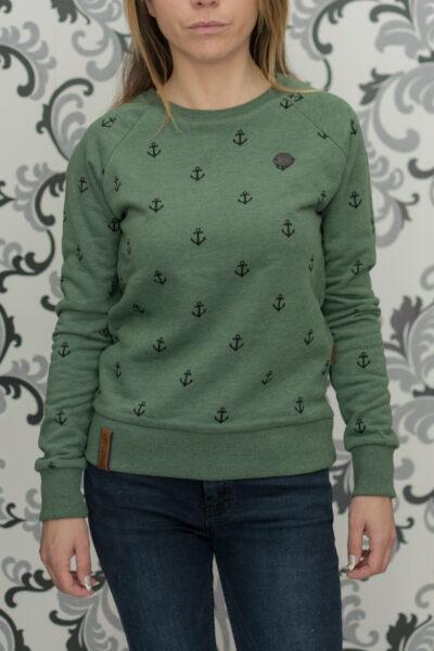 Зелена блуза накетано