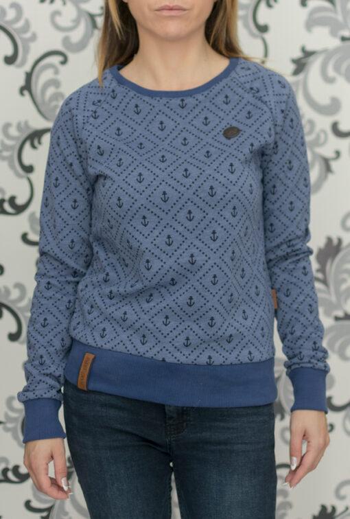 Синя блуза накетано