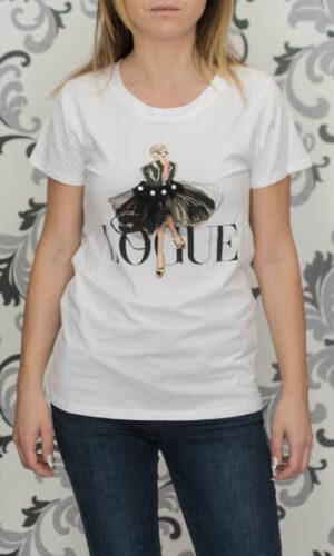 Дамска тениска - бяла