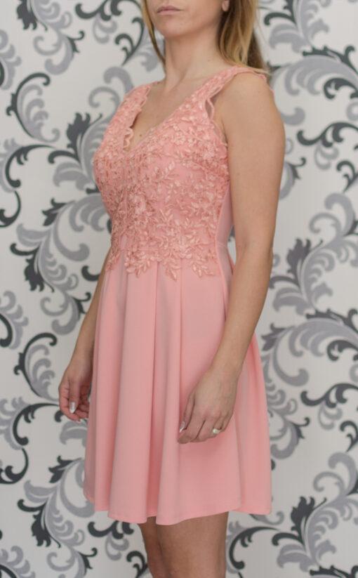 Розовз къса рокля